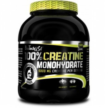 BioTech 100% Creatine Monohydrate 500 грамм (банка)