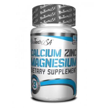 BioTech Calcium Zinc Magnesium 100 таблеток
