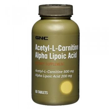 GNC ACETYL-L-CARNITINE ALPHA LIPOIC ACID 60 капсул