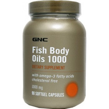 GNC FISH BODY OILS 1000 90 капсул