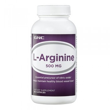 GNC L-ARGININE 500 90 капсул