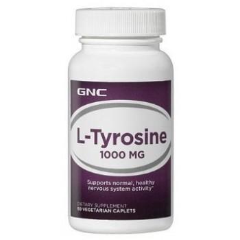 GNC L-TYROSINE 1000 60 капсул