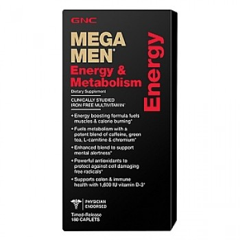 GNC MEGA MEN ENERGY 180 капсул