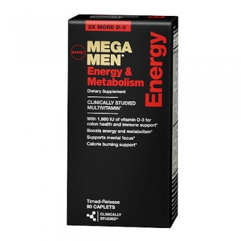 GNC MEGA MEN ENERGY & METABOLISIM 90 капсул