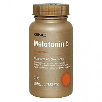 GNC MELATONIN 5 60 капсул