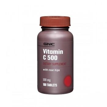 GNC VIT C 500 ROSE HIPS 100 капсул