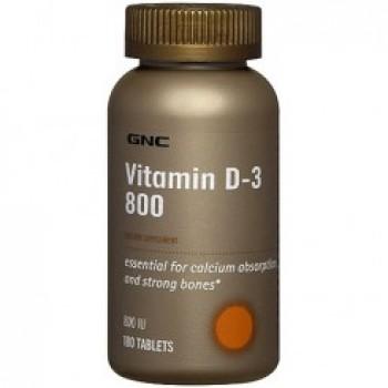 GNC VITAMIN D-3 800 180 капсул
