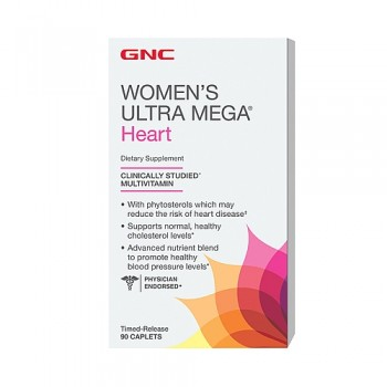 GNC WOMENS ULTRA MEGA HEART 90 капсул