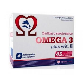 Olimp Omega 3 (45%)  + vit E 120 капсул